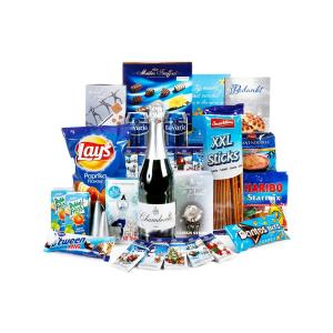 Uitgebreide collectie blauwe kerstpakketten