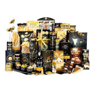 kerstpakketten met producten die bijdragen aan een goed milieu doordat ze op een verantwoorde manier zijn verkregen