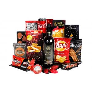 Een Rotterdams kerstpakket boordevol streekproducten verpakt in een mooie geschenkdoos